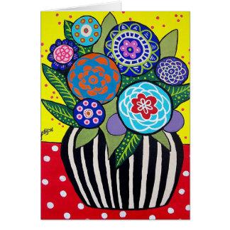 おもしろいの花の挨拶状 カード