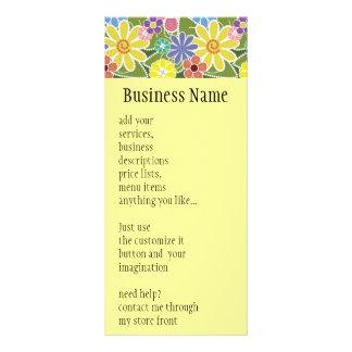 おもしろいの花の明るい棚カード ラックカード