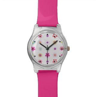 おもしろいの花 腕時計