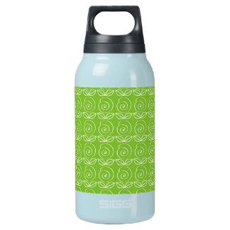 おもしろいの若草色の落書きパターン 断熱ウォーターボトル