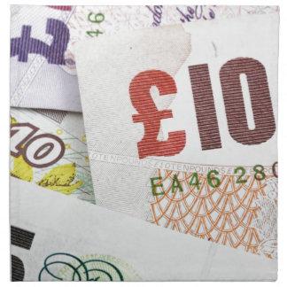 おもしろいの英国のお金パターン付属品のポンドのノート ナプキンクロス