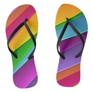 おもしろいの虹のデザインのビーチサンダル ビーチサンダル