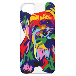 おもしろいの虹のヨークシャーテリア iPhone SE/5/5s ケース