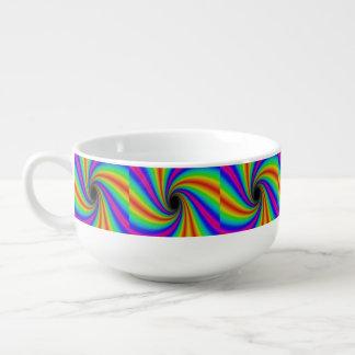おもしろいの虹の渦巻パターンスープマグ スープマグ