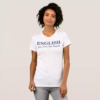 おもしろいの言葉遊びの言語Tシャツ Tシャツ