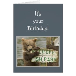 おもしろいの誕生日の壊れ目少数の規則くま動物 カード