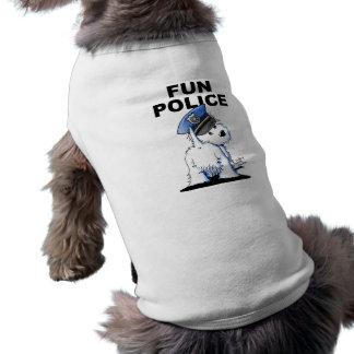 おもしろいの警察骨がある犬のタンクトップ ペット服