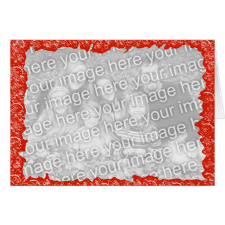 おもしろいの赤い写真の名声 カード