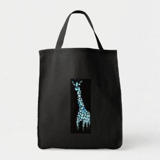 おもしろいの野生動物の抽象芸術のキリン トートバッグ
