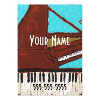 おもしろいの音楽的なピアノ名刺