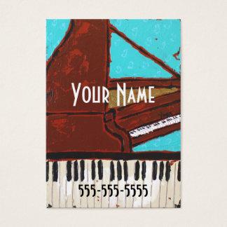 おもしろいの音楽的なピアノ名刺 名刺