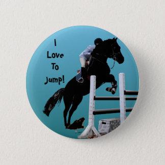 おもしろいの馬のジャンパー 缶バッジ