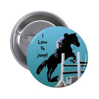おもしろいの馬のジャンパー 5.7CM 丸型バッジ