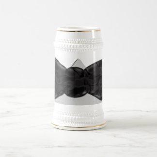 おもしろいの黒い弓タイの芸術 ビールジョッキ