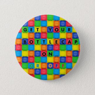おもしろいのBottlecapのデザインのボタンかPin 5.7cm 丸型バッジ