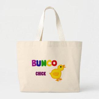 おもしろいのBuncoのひよこの芸術 ラージトートバッグ