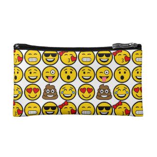 おもしろいのEmojiパターン感情の顔 コスメティックバッグ