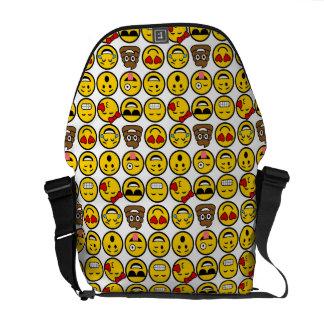 おもしろいのEmojiパターン感情の顔 メッセンジャーバッグ