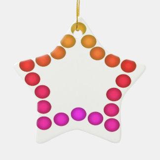 おもしろいのGumdropのオーナメントのパーティーの装飾の星1 セラミックオーナメント