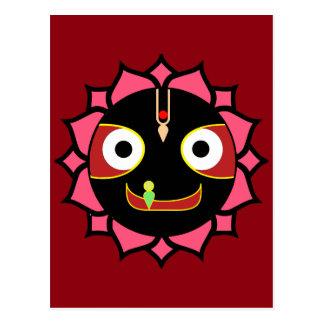 おもしろいのKrishnaのインドのモチーフ ポストカード