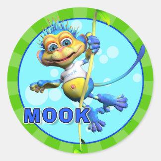 おもしろいのMookのステッカー ラウンドシール