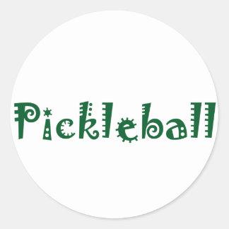 おもしろいのPickleballのクールな手紙 ラウンドシール