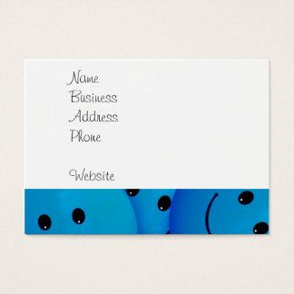 おもしろいは幸せで青いスマイリーフェイスを冷却します 名刺
