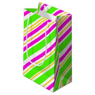 おもしろいは縞で飾ります スモールペーパーバッグ