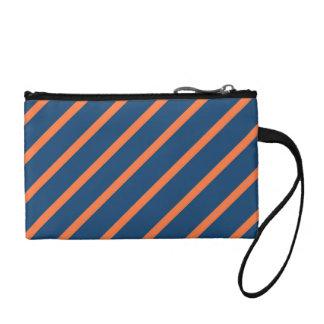 おもしろいは青い冷却し、オレンジ対角線は縞で飾ります コインパース