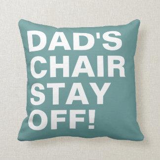 おもしろいを離れたパパの椅子の滞在 クッション