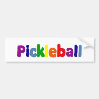 おもしろいカラフルなPickleballは芸術に文字を入れます バンパーステッカー
