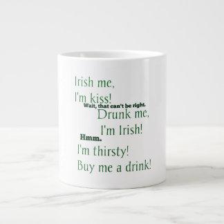 おもしろいセントパトリックの日に飲まれる少しか。 ジャンボコーヒーマグカップ