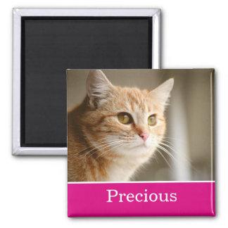 おもしろいピンクの名前入りなペット写真の磁石 マグネット