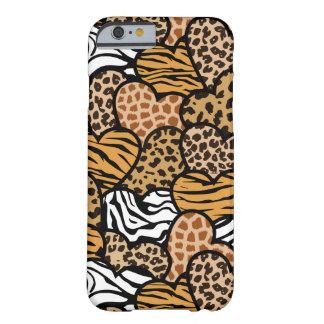 おもしろい動物パターンハート iPhone 6 ベアリーゼアケース