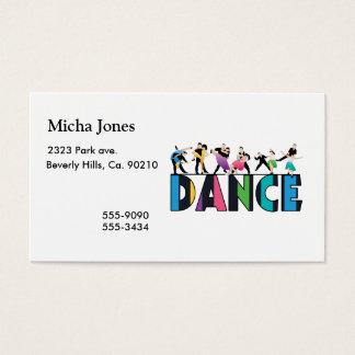おもしろい及びカラフルでストライプのなダンサーのダンス 名刺