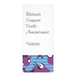 おもしろい子供へ紫色モンスターの創造物の青いギフト ラックカード