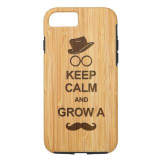 おもしろい平静を保ち、髭のタケ一見を育てて下さい iPhone 8/7ケース