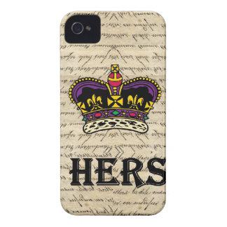 おもしろい彼女の物文字及び王冠 Case-Mate iPhone 4 ケース