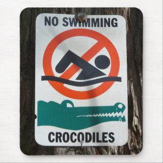 おもしろい水泳の警告標識無し マウスパッド