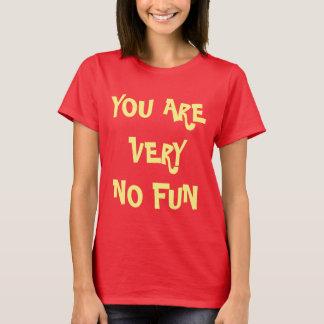おもしろい無し Tシャツ