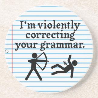 おもしろい無言であなたの文法からかいの冗談を訂正します コースター