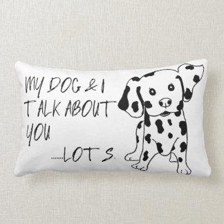 おもしろい犬および私はあなた引用文を述べています ランバークッション