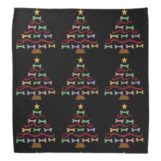 おもしろい犬のビスケットのクリスマスツリーの芸術 バンダナ