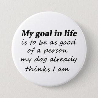おもしろい犬の恋人ペットユーモアのギフトのノベルティボタン 7.6CM 丸型バッジ