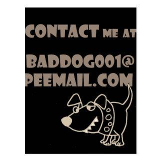 おもしろい犬の電子メールのPeemailの接触 ポストカード