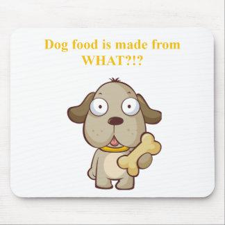 おもしろい犬の食糧は何からなされますか。! マウスパッド