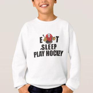 おもしろい睡眠の演劇のホッケーのゴールキーパーを食べて下さい スウェットシャツ