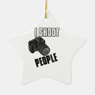 おもしろい私は人々のカメラマンを撃ちます セラミックオーナメント