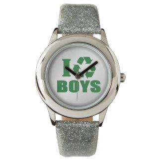おもしろい私は男の子をリサイクルします 腕時計