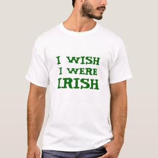 おもしろい私は私がアイルランドのティーだったことを望みます Tシャツ